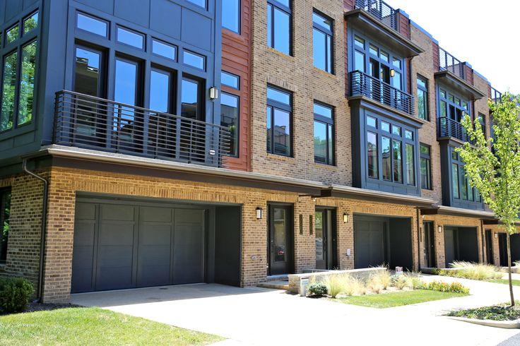 This Luxury Townhouse Development Features An Overhead Door Courtyard Collection Garage Doors Installed By Ove Luxury Townhouse Garage Doors Door Installation