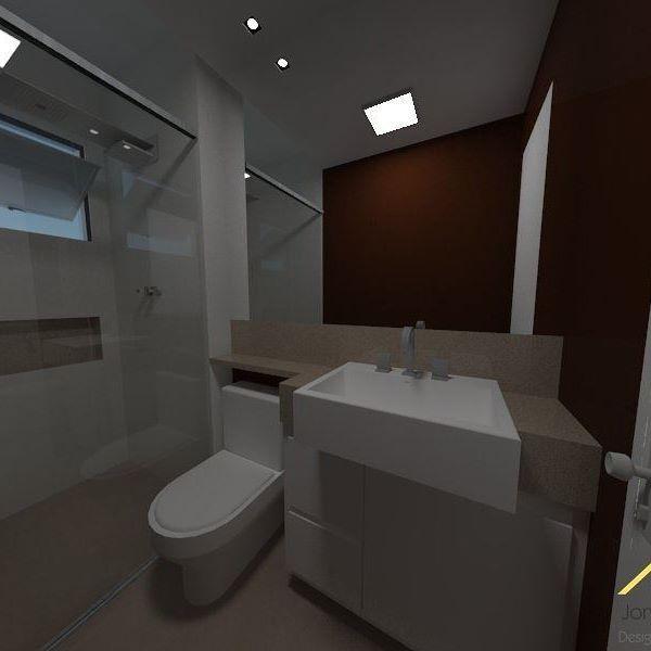 Projeto de reforma do banheiro  .  #design #interiordesign  #designerdeinteriores #mdf #clean  #architecture #vray #sketchup #planejados #espelhos #silestone  #home #bathroom #reforma #mdf #porcelanato #quartafeira #box #chuveiro #banheiro #render #deca #white #coffee