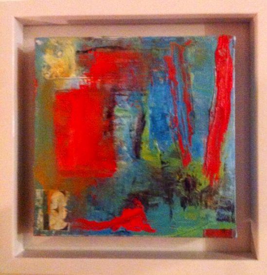 Oleo enmarcado 35 x 35