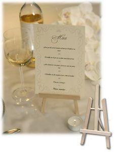 CHEVALET de TABLE 18cm MENU Décoration de table MARIAGE/BAPTEME/FETE