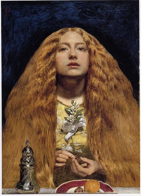 The Bridesmaid   ::    Oil painting. 1851  by John Everett Millais