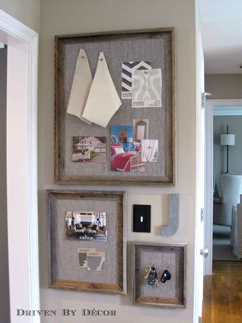 Driven By Décor: DIY Restoration Hardware Bulletin Board... and working around a light switch!