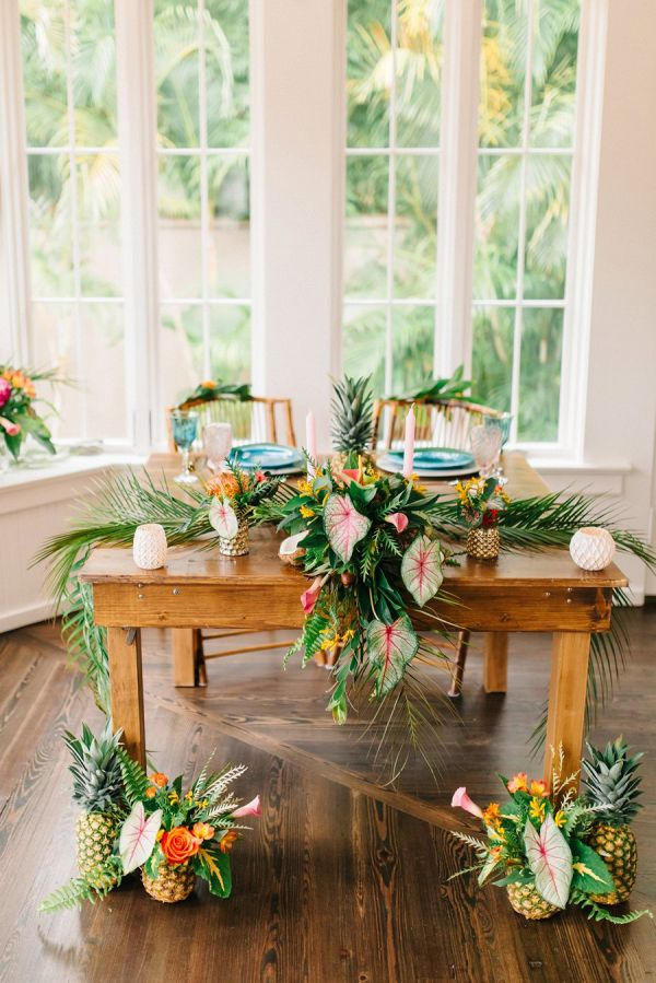Elegant Tropical Wedding Ideas In 2019 Reception Style From Aisle