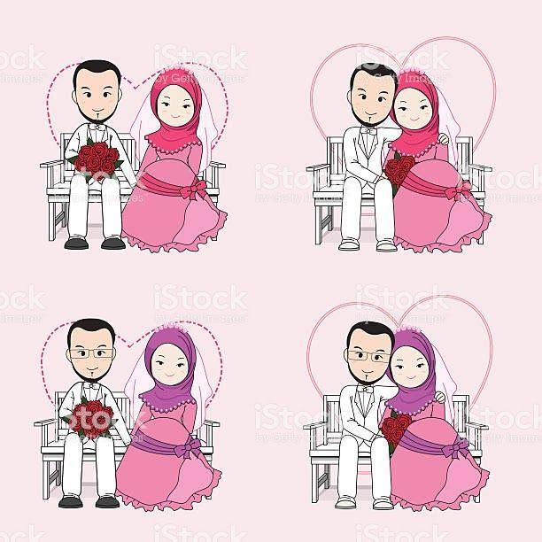 34 Foto Kartun Pengantin Muslimah Muslim Wedding Free Vector Art 26 Free Downloads Download Download Gambar Kartun Pernikahan Kartun Gambar Gambar Kartun