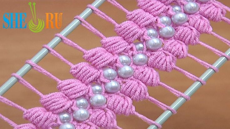 Hairpin Lace Crochet Tutorial 38 The Puff Stitch Beaded Strip ✭Teresa Restegui http://www.pinterest.com/teretegui/ ✭