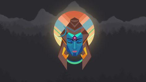 Lord Shiva Minimal Wallpaper - 4K