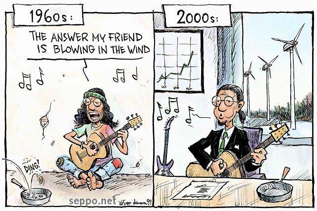 Wind Energy Cartoon, keywords:  energy climate wind wind power global climate change cartoon