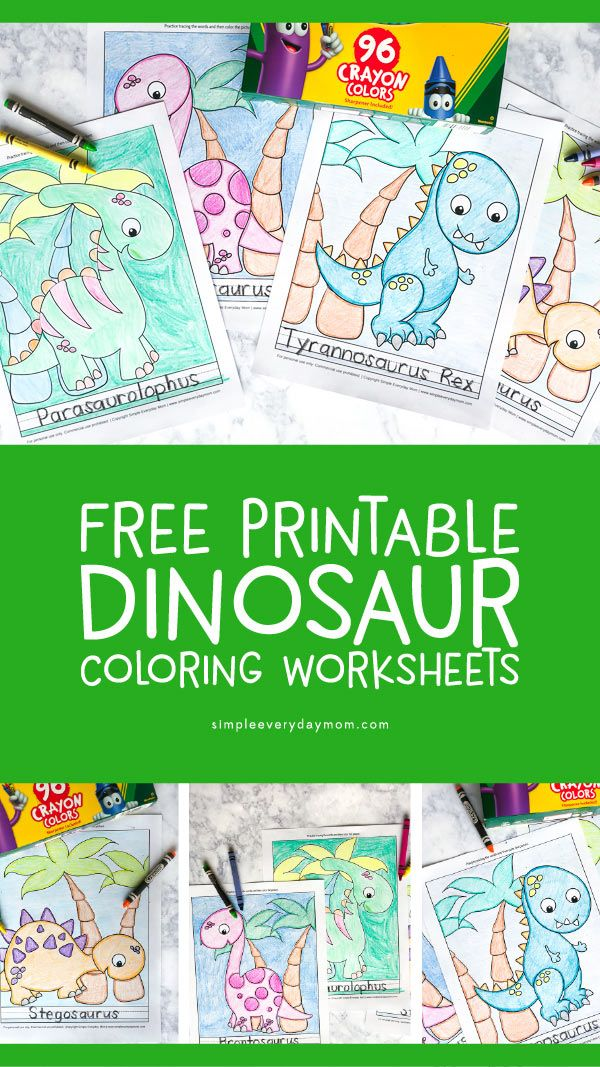 5 Free Printable Dinosaur Coloring Pages For Kindergarten Dinosaur  Coloring Pages, Dinosaur Crafts Preschool, Dinosaur Coloring