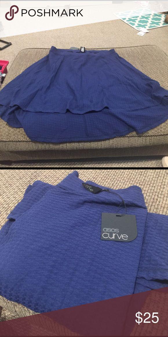 Navy Blue ASOS Curve Skirt NWT fun flirty Skirt. ASOS Curve Skirts