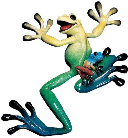 Lucy The Frog Wall Hanging Art Sculpture Available At