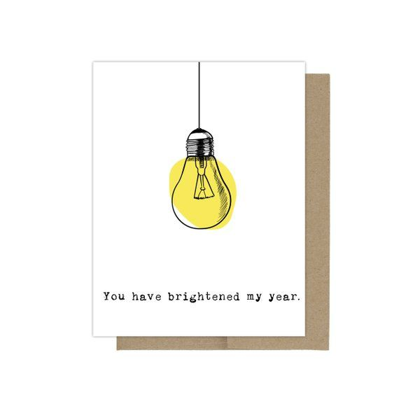 Brightened My Year Greeting Card, Funny Birthday Card, Best Friend Card, Thank You Card, Teacher Appreciation Card, Friendship Greeting Card – Kreativ