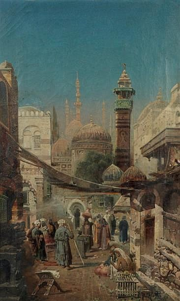 Robert Alott (1850-1910) GERMAN SCHOOL ACTIVITIES AROUND THE MOSQUES