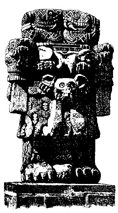 """Coatlicue.  """"Diosa Madre de la tierra.  Coatlicue representa la Madre Divina y a la vez es regente de los elementales de la tierra, los gnomos y pigmeos."""""""