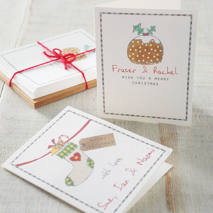 pack of personalised christmas cards by violet pickles | notonthehighstreet.com