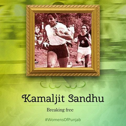 Kamaljit Sandhu, a superb athlete, won the gold medal for the 400 metres during the Asian Games at Bangkok 1970. She ran the distance in 57.3 seconds. She was the first Indian woman to win gold medal at any Asian games. That year she also won two national tides for the 200 and 400 metres. The records she set remained unbroken for ten years. She received Padma Shri award in 1971. She inspires many. #WomenOfPunjab