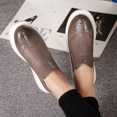 Новые 2017 Весна и Отем Мартин сапоги сапоги плоские ботинки Челси сапоги одиночные ботинки с толстыми кожаными ботинками британский стиль - глобальный Taobao станции