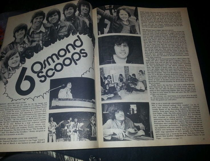 Teen World Teen Magazine Back Issue August 1972 The Osmonds Jackson 5 | eBay