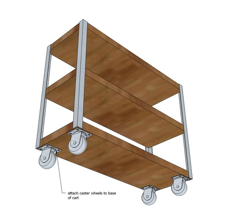 Ana White   Build a Easiest Industrial Cart   Free and Easy DIY Project and Furniture Plans