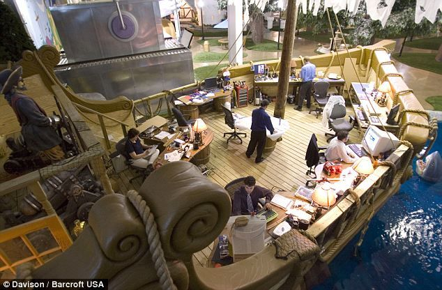 Pixar has amazing offices, but Inventionland has PIRATE SHIP OFFICES: Pirates Ships, Pirate Ships, Offices Design, Workspace, Offices Spaces, Interiors, To Work, Kitchens Gadgets, Inventionland