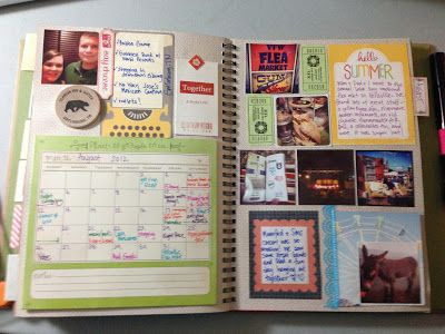Mrs. Crafty Adams: This time last year: Project Life SMASH book August 2012