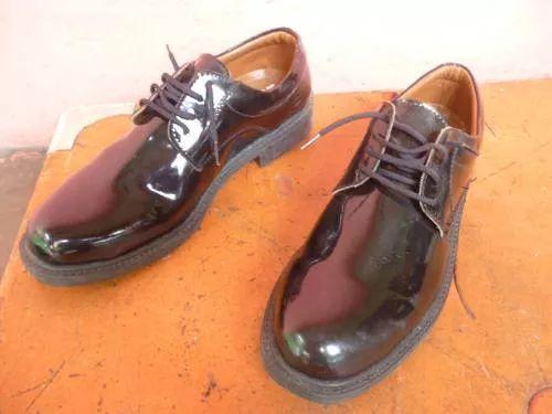 zapatos negro patentes militares,policías,bomberos y ninos