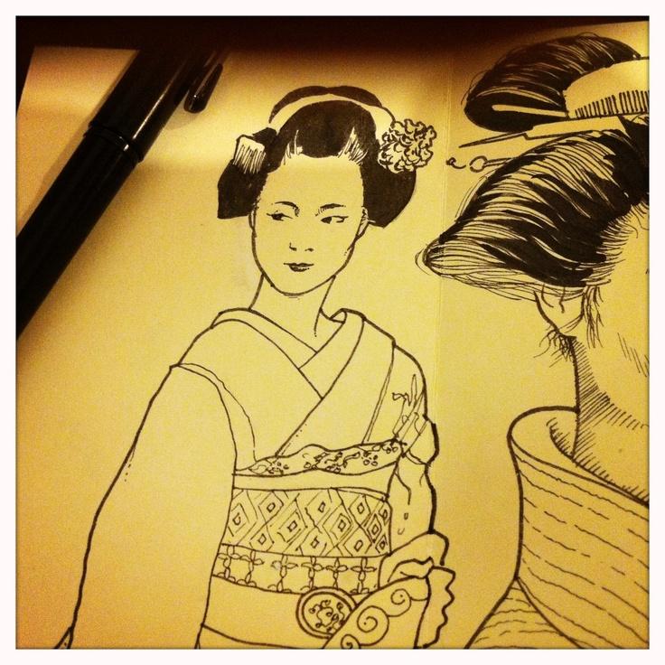 Geisah sketch, Japan