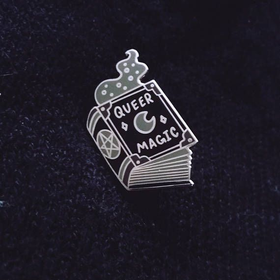 Lapel Pin Book of Shadows Enamel Pin