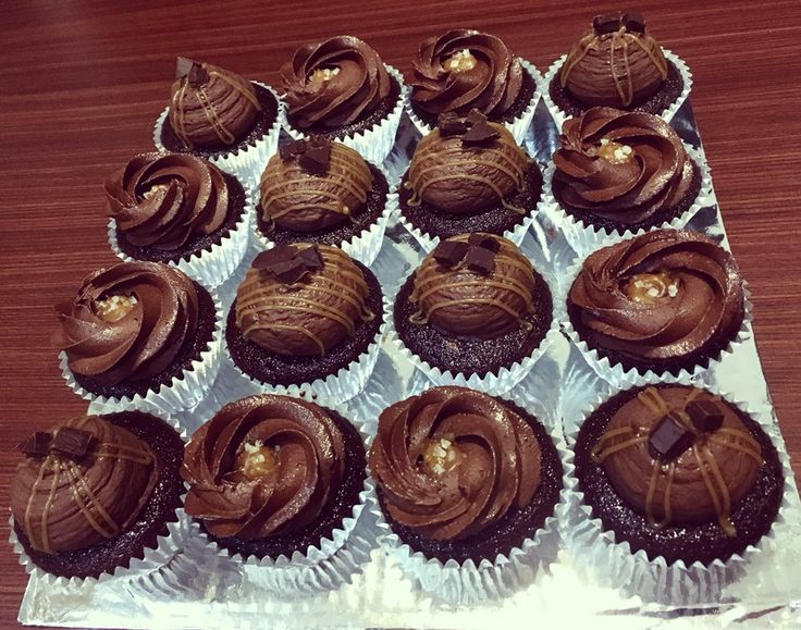Devil choc cupcake with chocolate buttercream and salted caramel.. Some i add also sea salt flakes..  #DGinukz