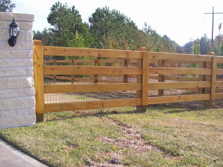 Ranch Style Wood Fence Designs Jc Hood Ornamental Iron