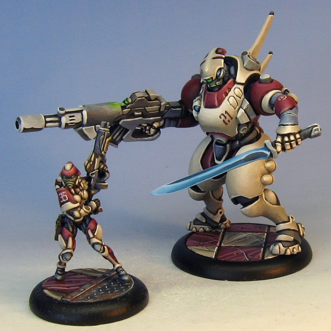James Wappel Miniature Painting: The 'lost' squad of Infinity...