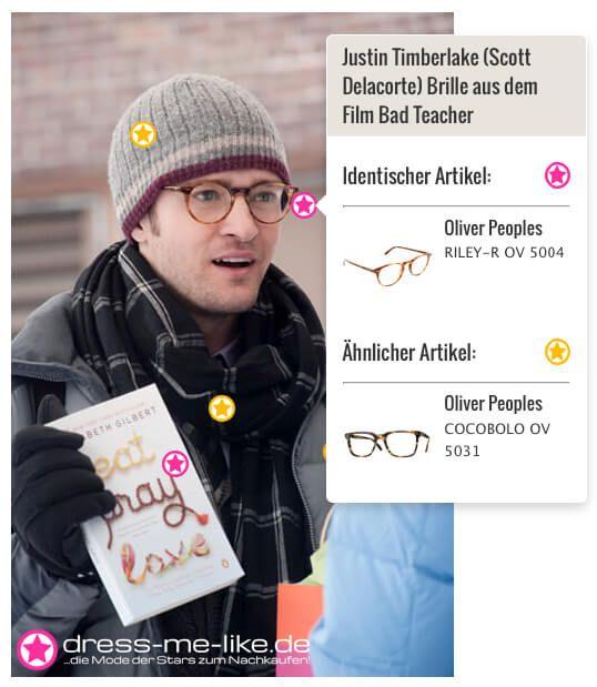 Justin Timberlake (Scott Delacorte) Brille (Oliver Peoples - RILEY-R OV 5004) aus dem Film Bad Teacher