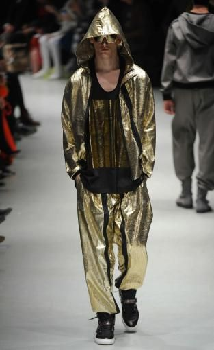 Metallics: A/W 14/15 young men's catwalk trend flash