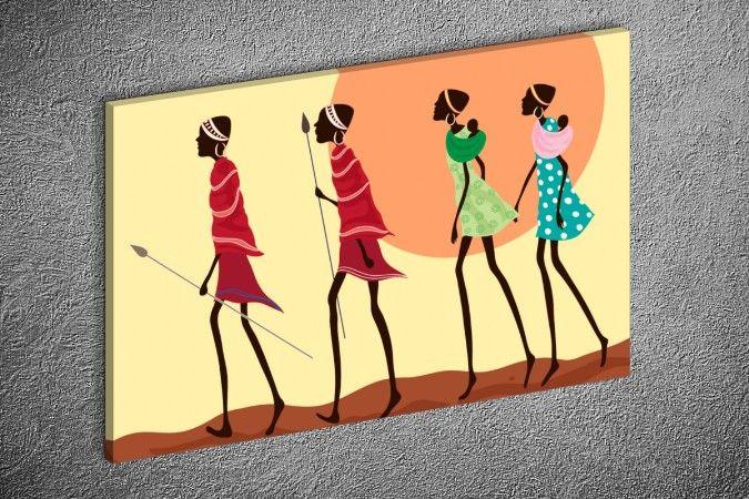 Tuvall.com: Tablo, Kanvas tablo, Dekoratif saatler. Afrikalı Kadınlar 02 Yatay…