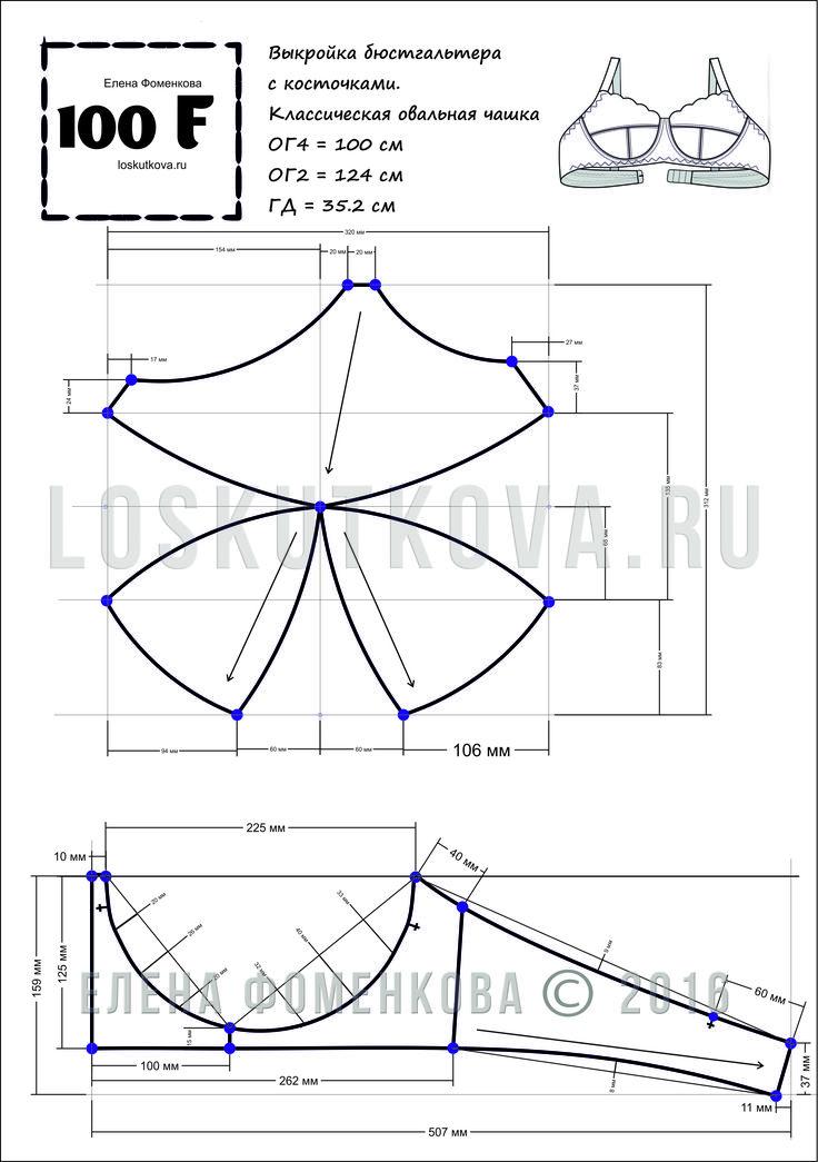 Bra pattern... molde e desenho de Sutiã Meia-Taça... e passo a passo para costura-los
