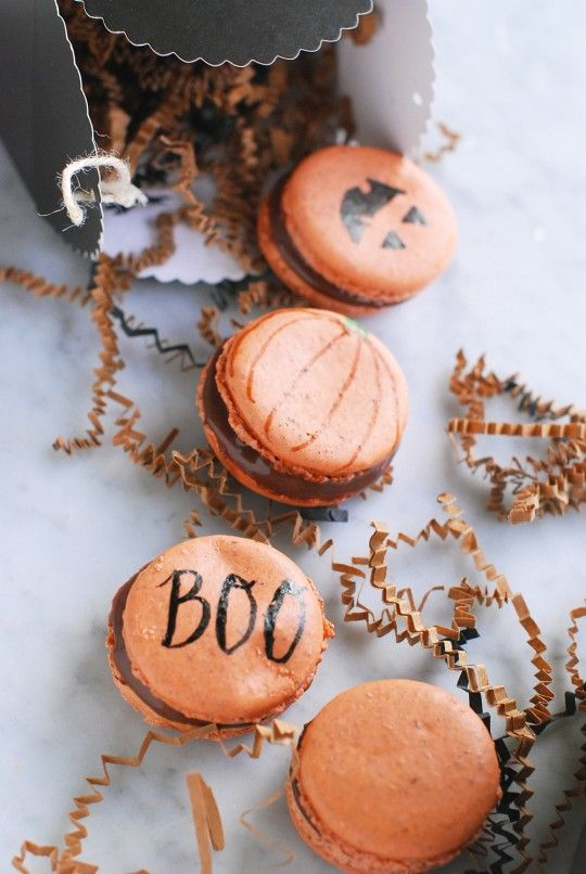 DIY Spooky and Sweet Macarons (write on them with edible markers)