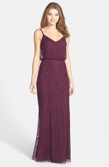 fall formal dress - Adrianna Papell Embellished Blouson Gown   Nordstrom