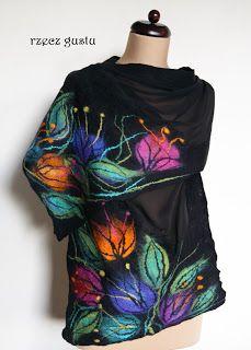 A matter of taste--wet feltedshawl--crochet inspiration