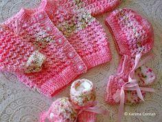Lacey Baby Cardigan -- free pattern