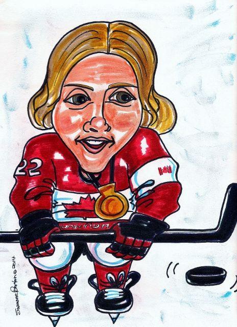 Hayley Wickenheiser Captain of Canadian Olympic Hockey Team Sochi 2014 Gold Medal Winners