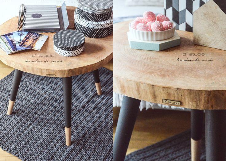 Stolik kawowy Still Wood handmade scandi prezent! - d2_studio - Stoliki kawowe