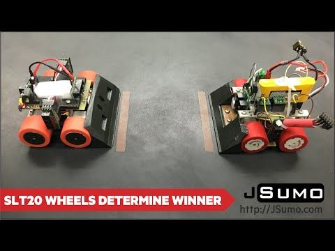 Good mini sumo robot which uses SLT20 Series Jsumo wheels. https://www.youtube.com/watch?v=PSQAqRDqKhY&t=19s