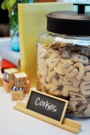 Alphabet themed birthday party ideas!