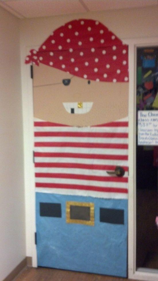 Pirate Themed Classroom Door Decoration Idea