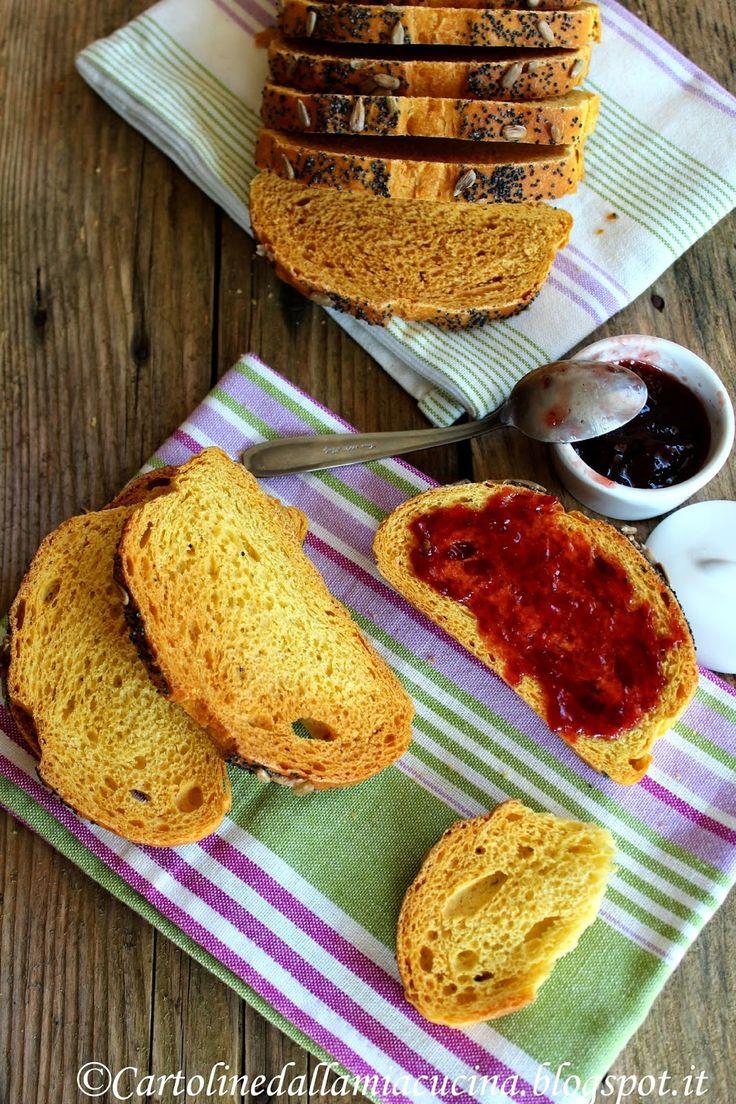 Cartoline dalla mia Cucina: Fette di Pane alla Zucca.....morbide o tostate?
