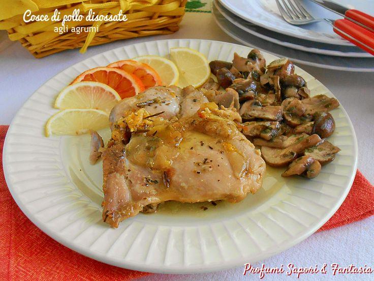 Cosce di pollo disossate agli agrumi