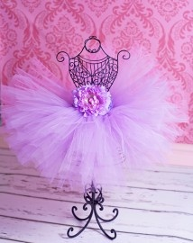 Lavender Luxury Silk Peony Flower Girls Tutu Skirt | Tutu rokken | Welkom bij DreamBeebz