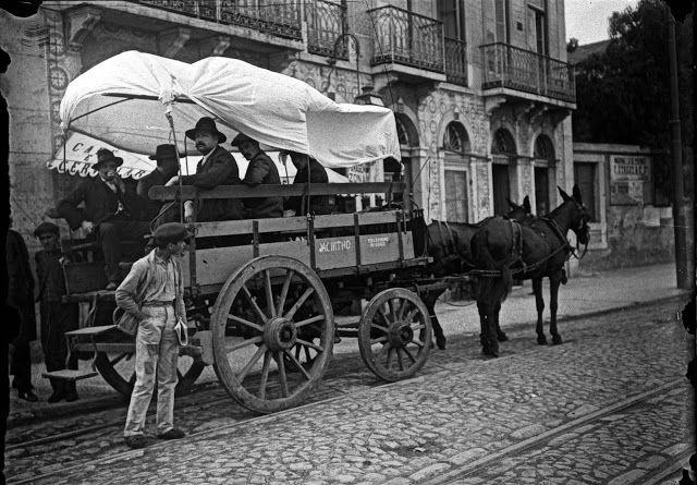 Rua 5 de Abril, Alcântara - Lisboa, Carro Jacintho, transporte público - 1912