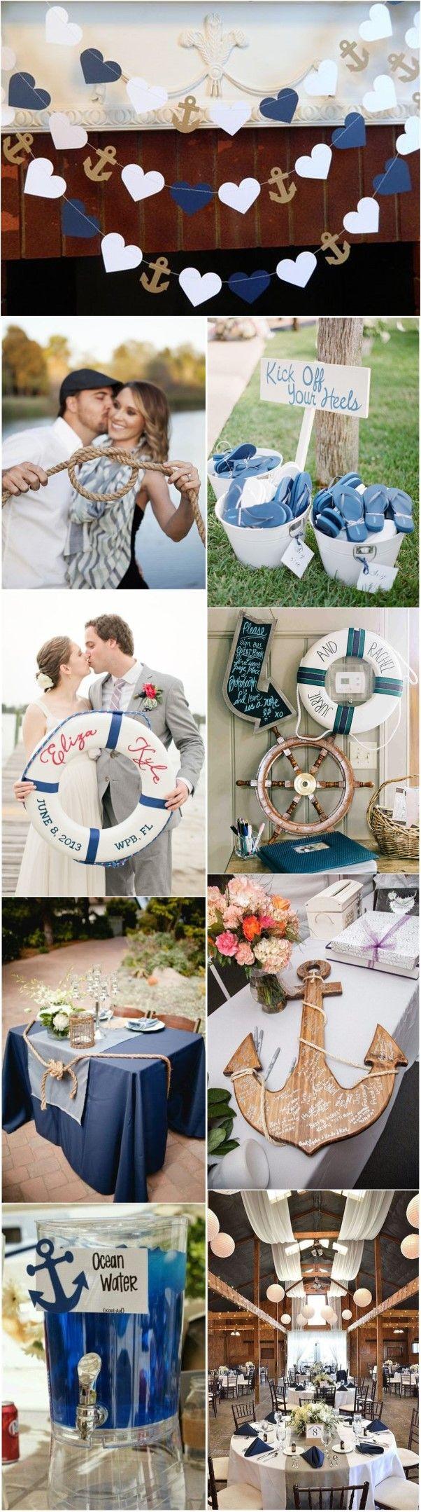 Blue and white wedding decor   best Beach Wedding Ideas images on Pinterest  Beach weddings