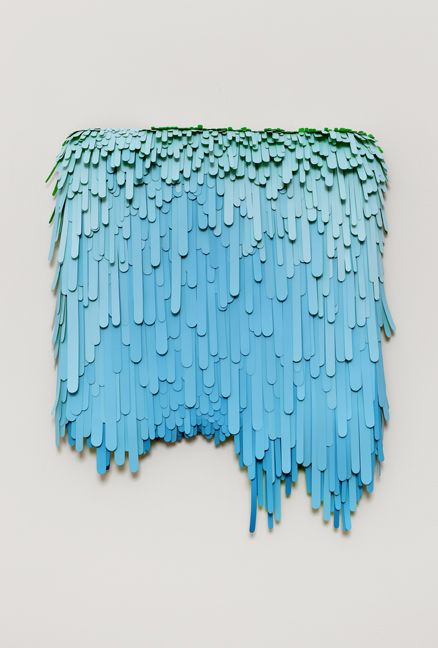 Awesome ~ modern popsicle stick art - would look cool as a yard/side of house art