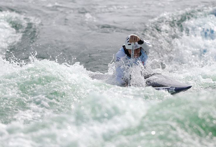 David Florence of Great Britain competes in the men's C1 heats during the Canoe Slalom World Cup in Cardiff Bay Harry Engels/Getty Images